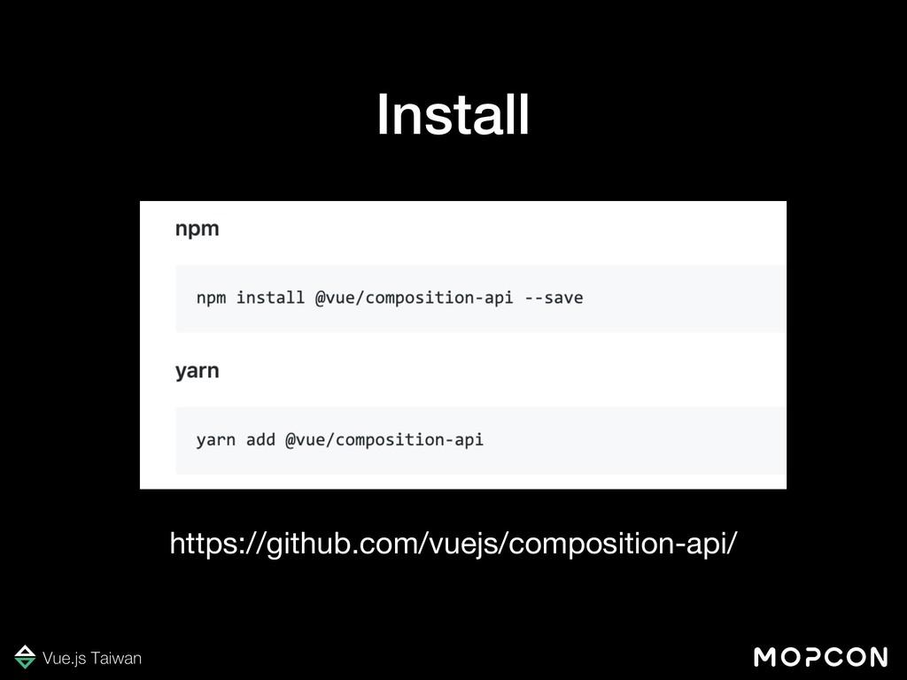 https://github.com/vuejs/composition-api/ Insta...