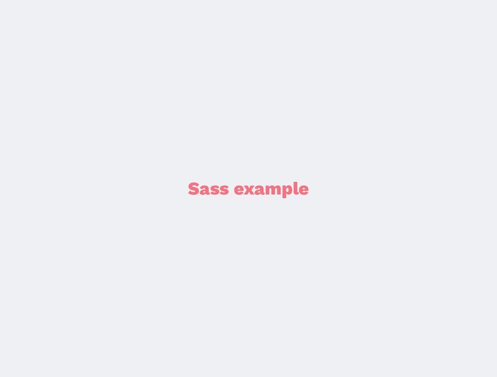 Sass example