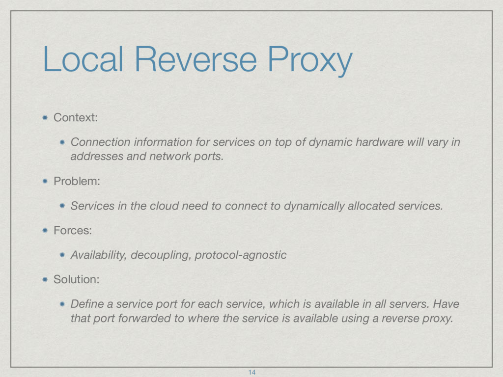 Local Reverse Proxy Context:  Connection inform...