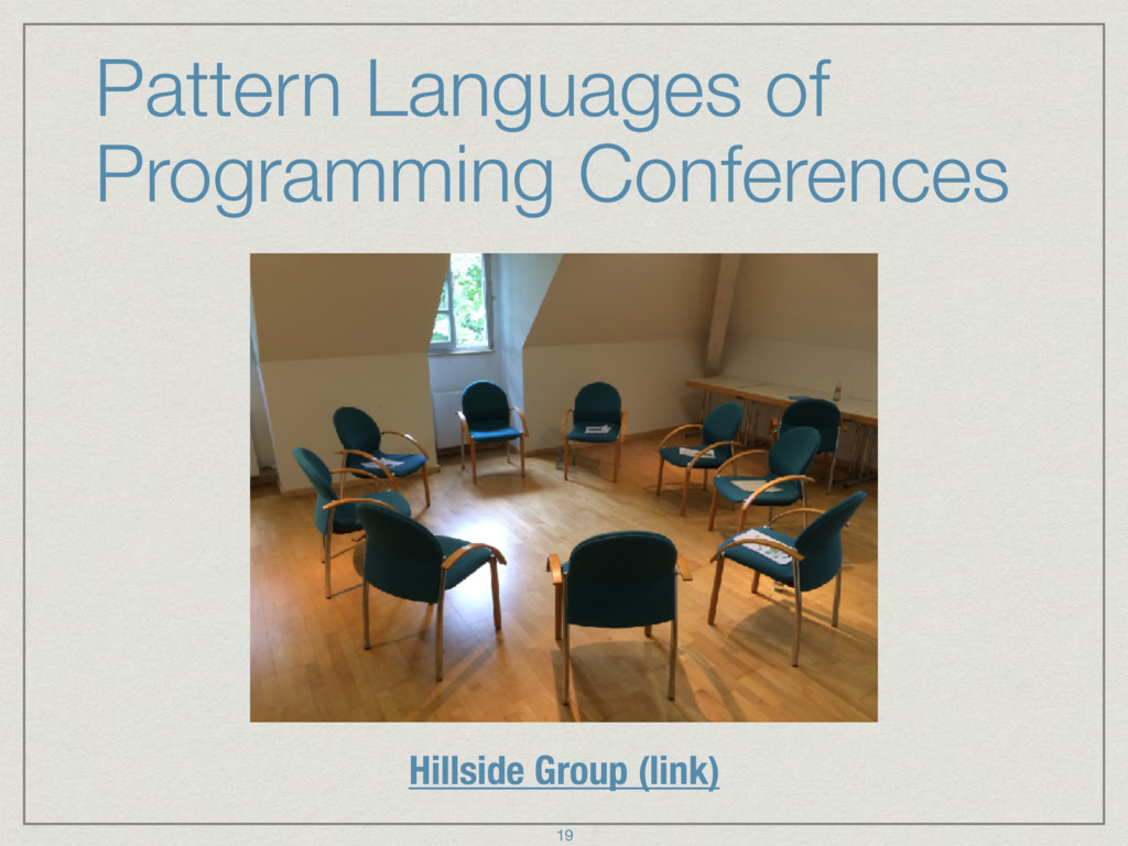 Pattern Languages of Programming Conferences Hi...