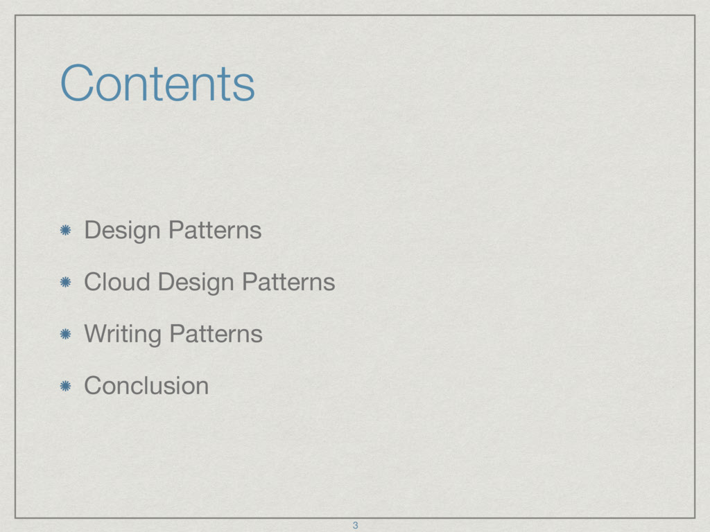 Contents Design Patterns  Cloud Design Patterns...