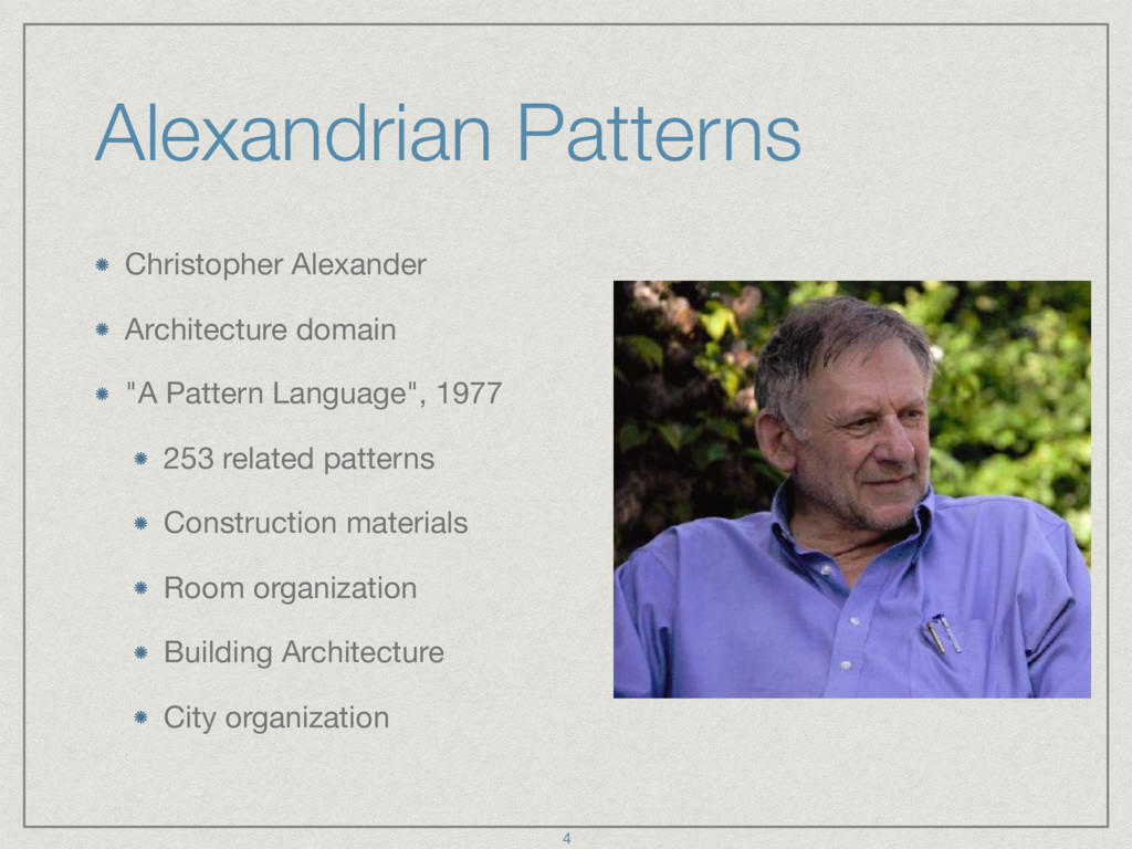 Alexandrian Patterns Christopher Alexander  Arc...