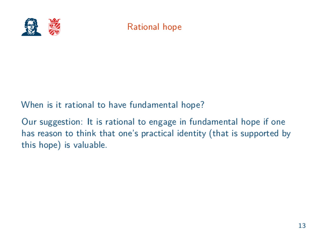 Rational hope When is it rational to have funda...