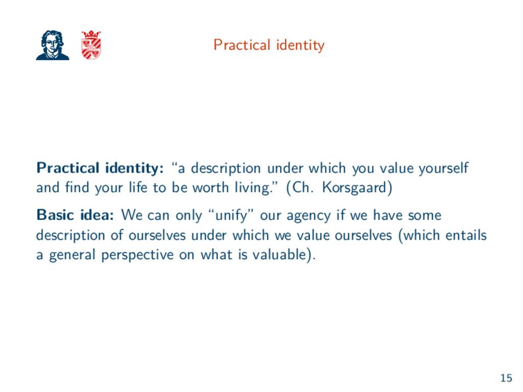 "Practical identity Practical identity: ""a descr..."