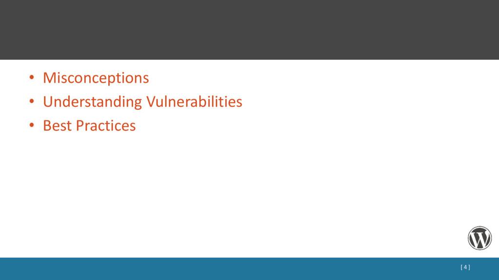• Misconceptions • Understanding Vulnerabilitie...