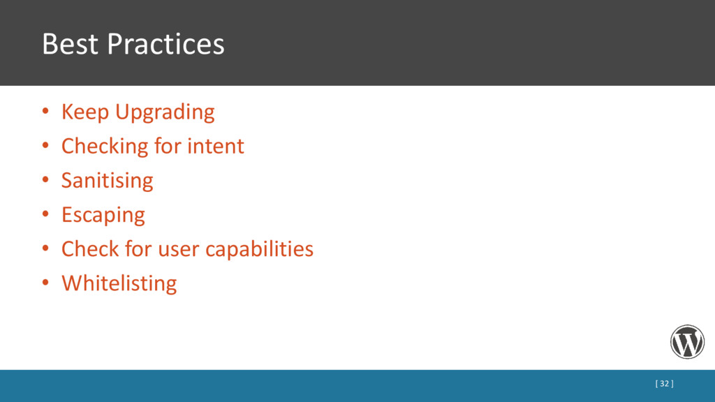 Best Practices • Keep Upgrading • Checking for ...