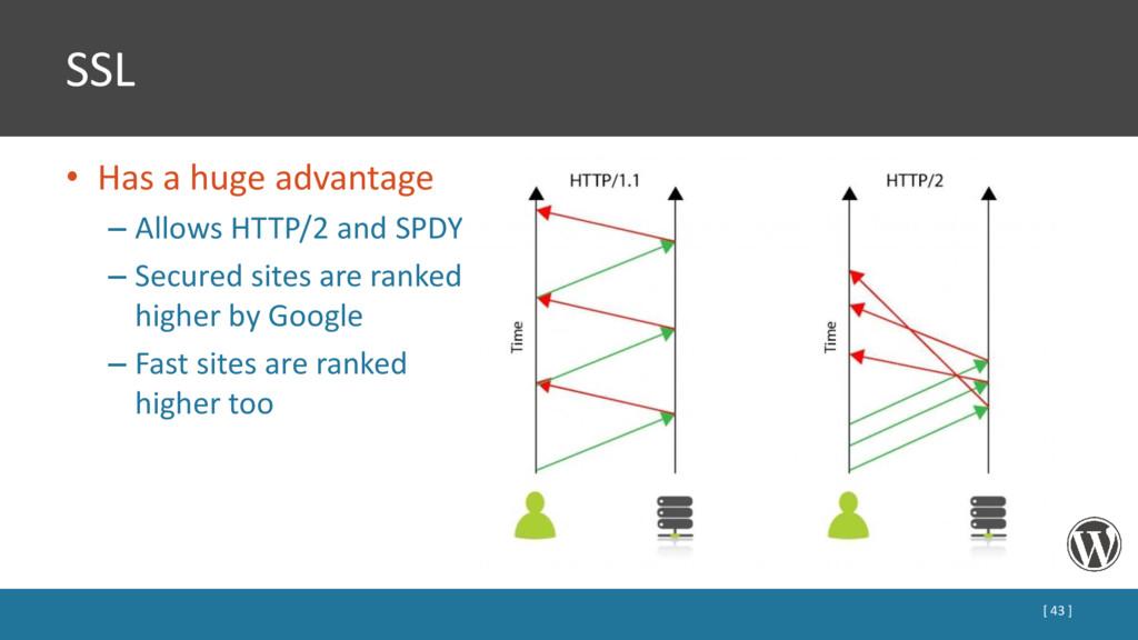 SSL • Has a huge advantage – Allows HTTP/2 and ...