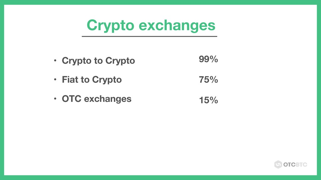 Crypto exchanges • Crypto to Crypto • Fiat to C...
