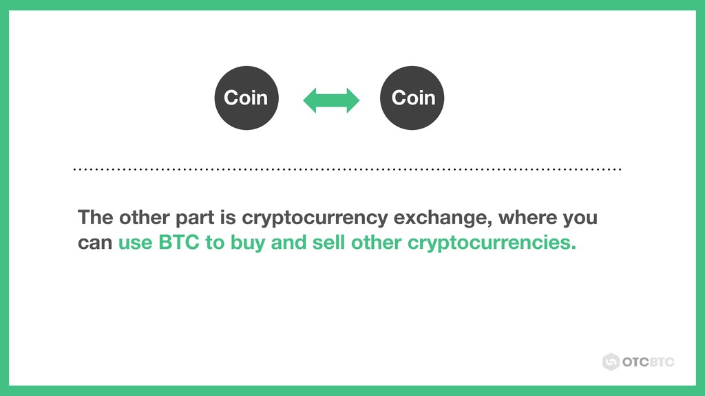 Coin Coin The other part is cryptocurrency exch...