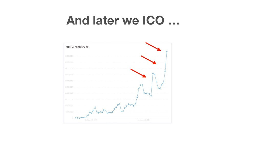 And later we ICO …