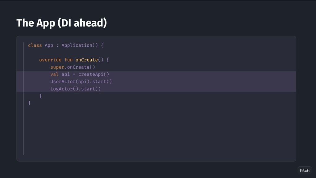 The App (DI ahead) class App : Application() { ...