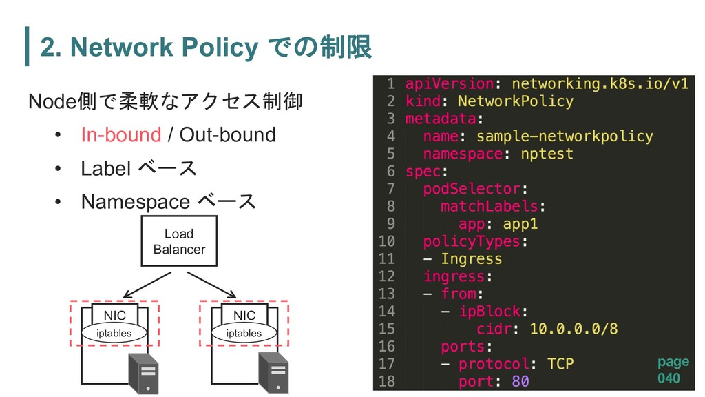 2. Network Policy  Node 