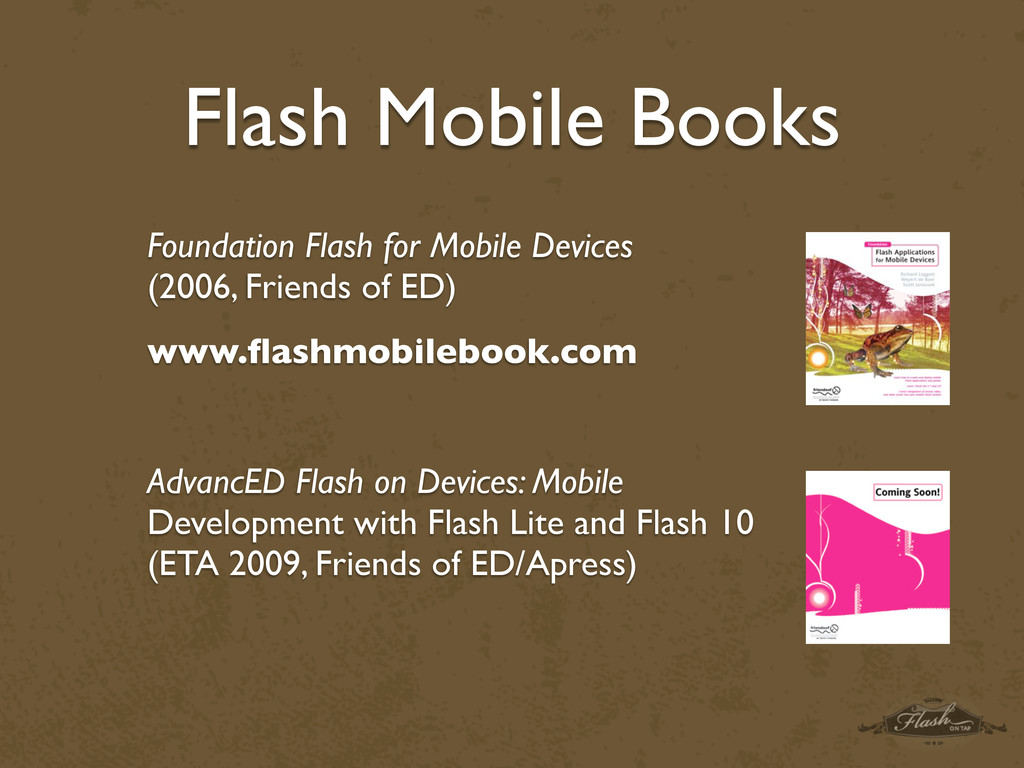Flash Mobile Books Foundation Flash for Mobile ...