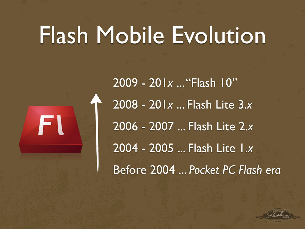 "Flash Mobile Evolution 2009 - 201x ... ""Flash 1..."