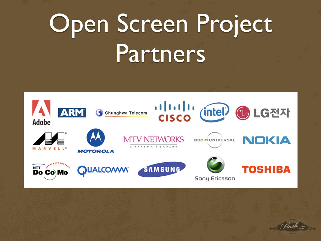 Open Screen Project Partners