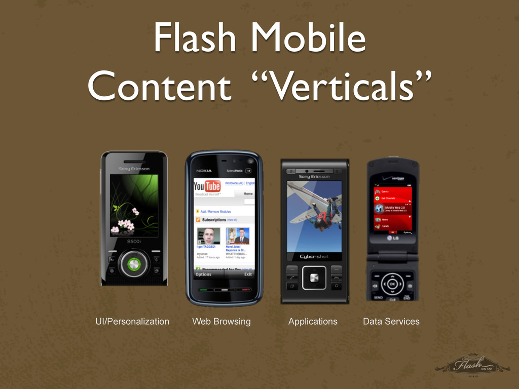 "Flash Mobile Content ""Verticals"" UI/Personaliza..."