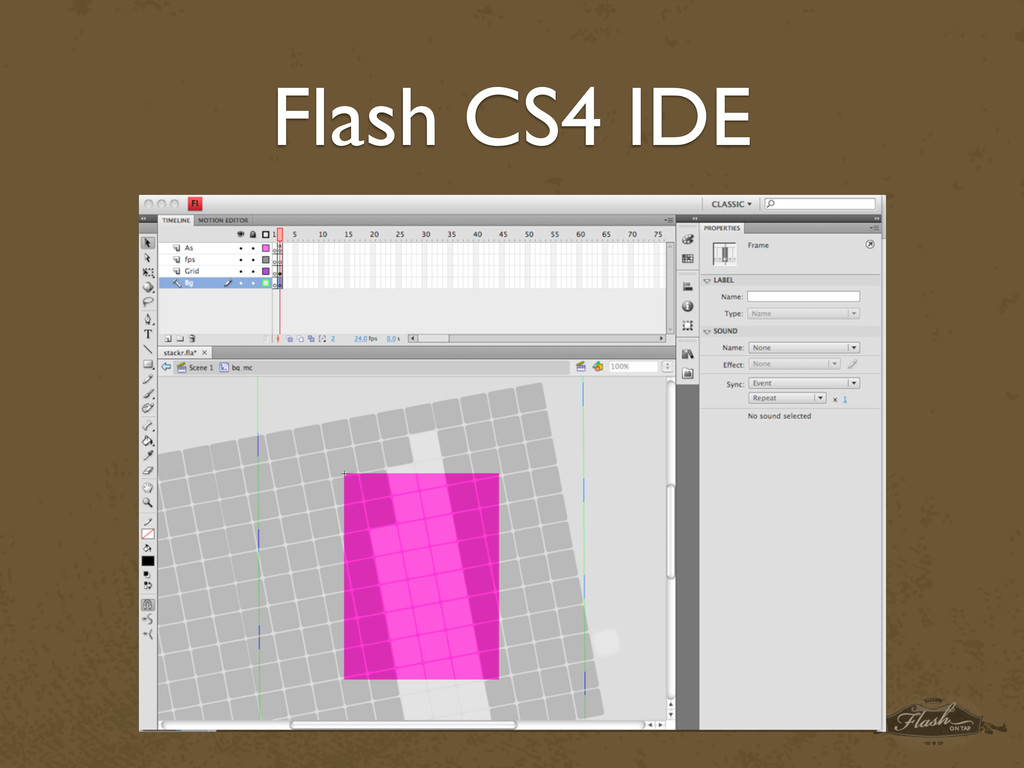 Flash CS4 IDE