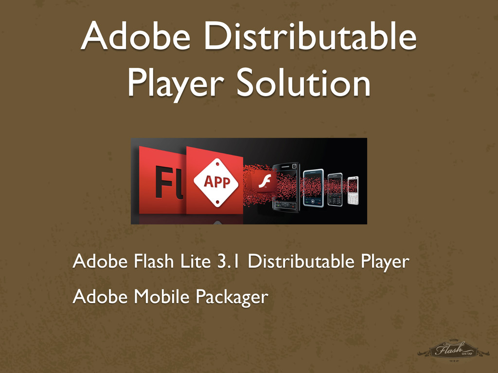 Adobe Distributable Player Solution Adobe Flash...