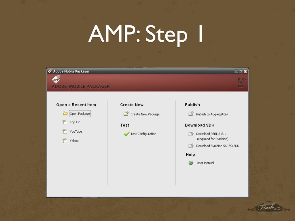 AMP: Step 1