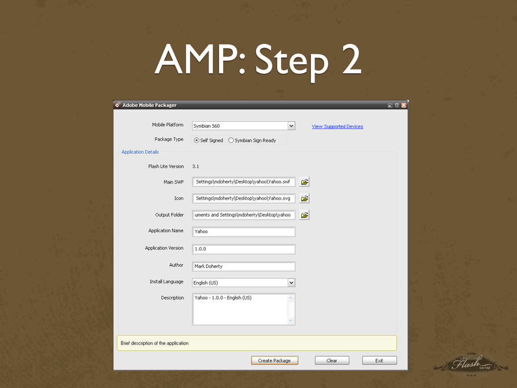 AMP: Step 2