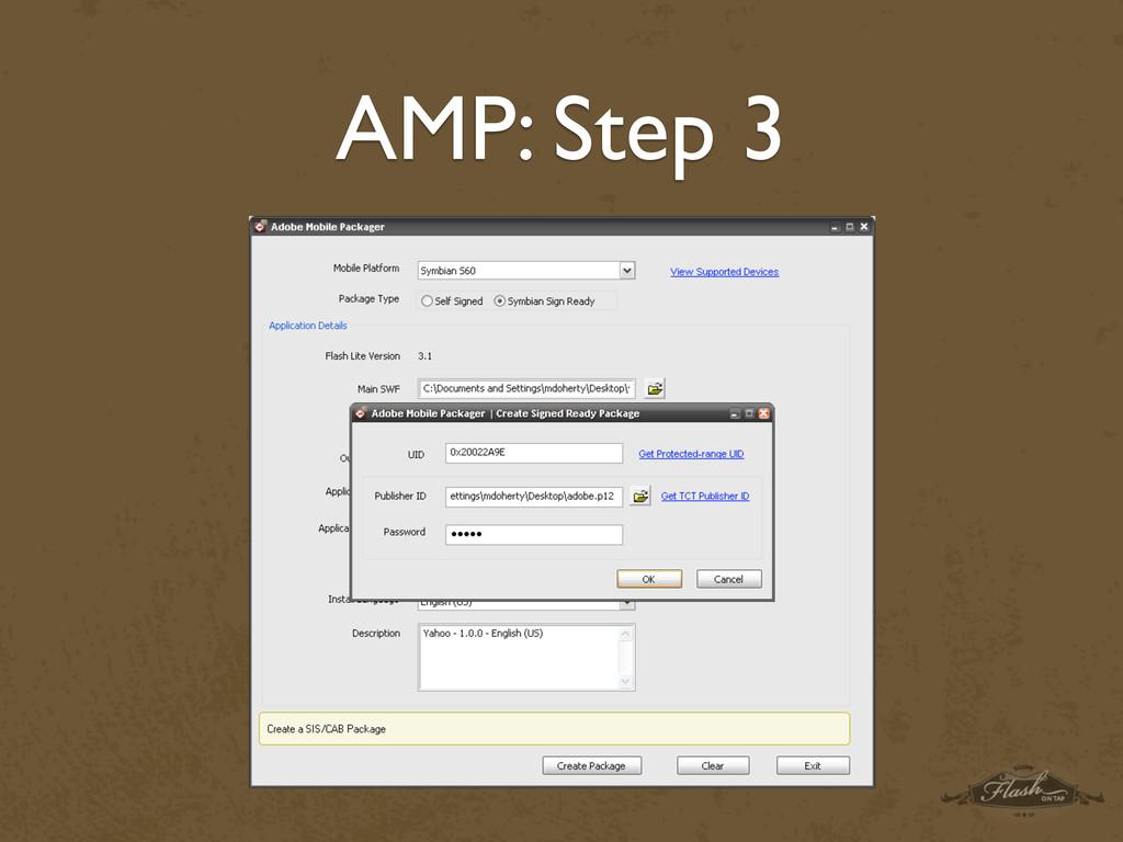 AMP: Step 3