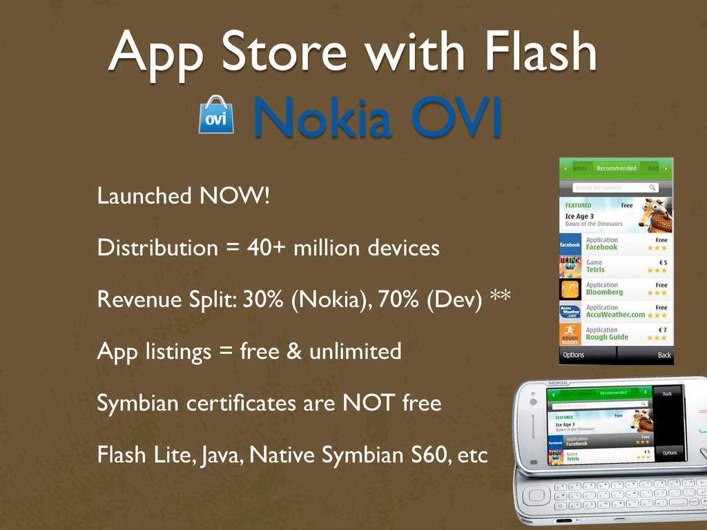 App Store with Flash Nokia OVI Launched NOW! Di...