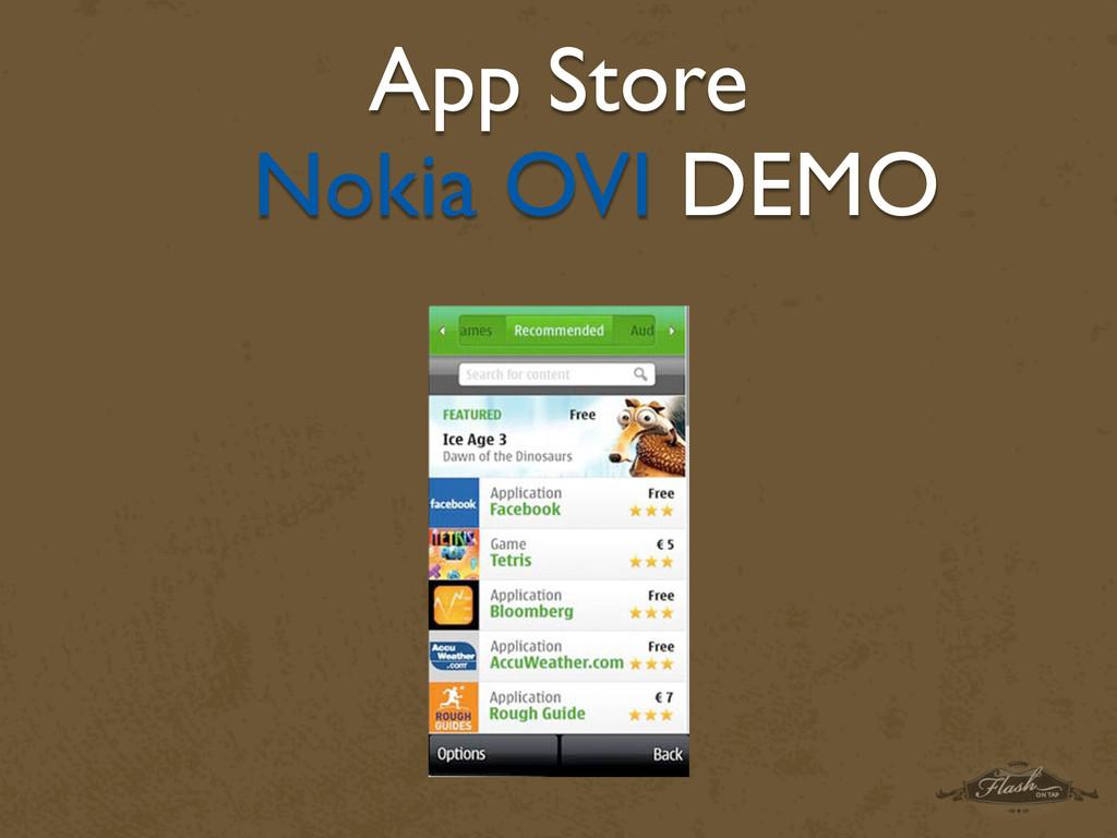 App Store Nokia OVI DEMO