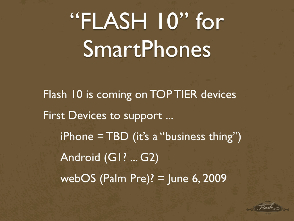 """FLASH 10"" for SmartPhones Flash 10 is coming o..."