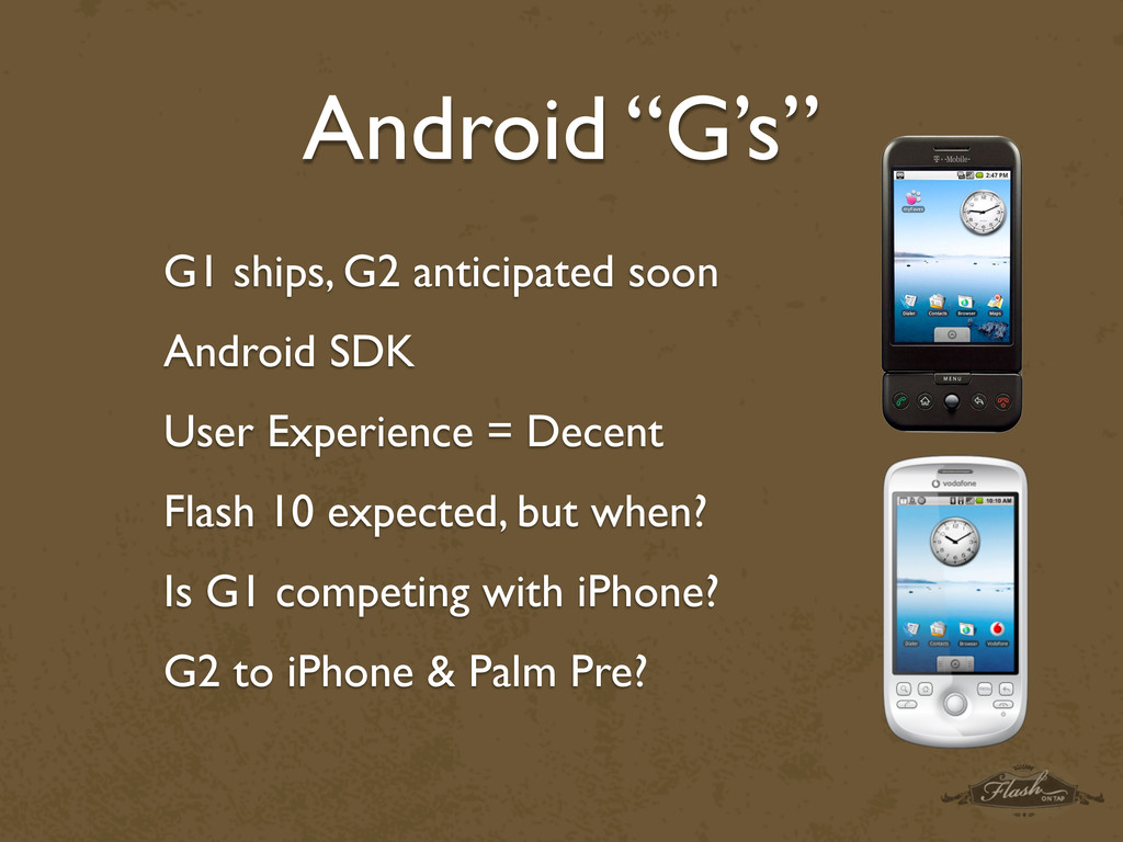 "Android ""G's"" G1 ships, G2 anticipated soon And..."