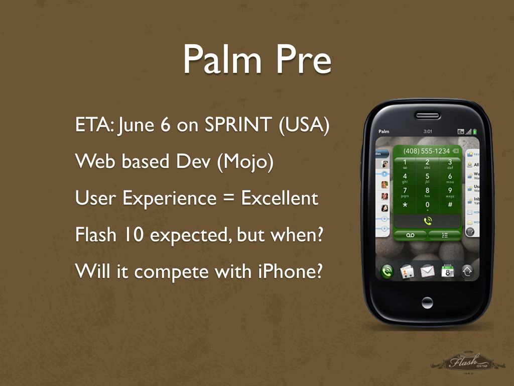 Palm Pre ETA: June 6 on SPRINT (USA) Web based ...