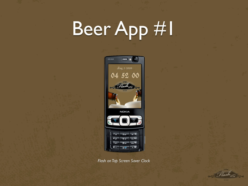 Beer App #1 Flash on Tap Screen Saver Clock