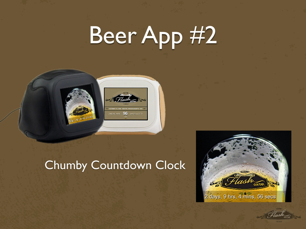 Beer App #2 Chumby Countdown Clock