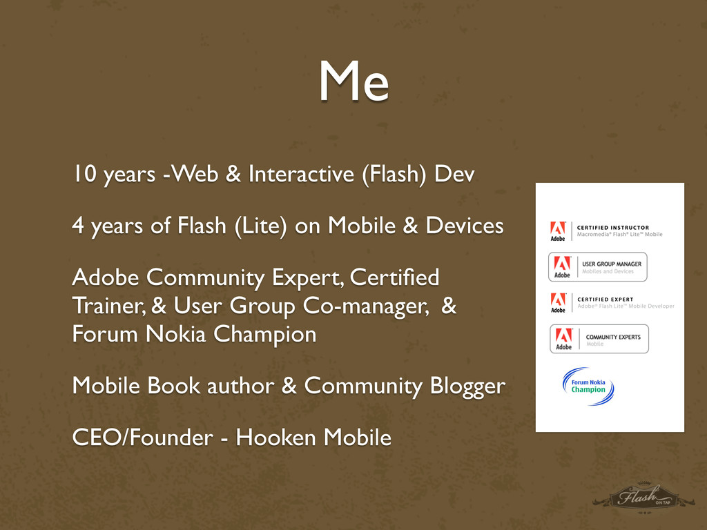 Me 10 years -Web & Interactive (Flash) Dev 4 ye...