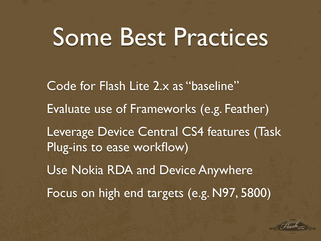 Some Best Practices Code for Flash Lite 2.x as ...