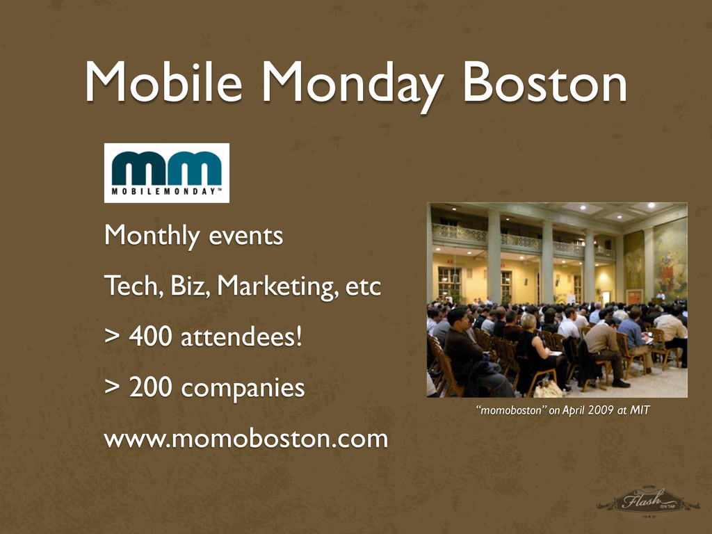 Mobile Monday Boston Monthly events Tech, Biz, ...