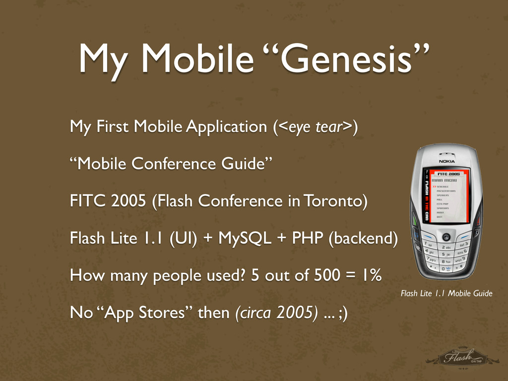 "My Mobile ""Genesis"" My First Mobile Application..."