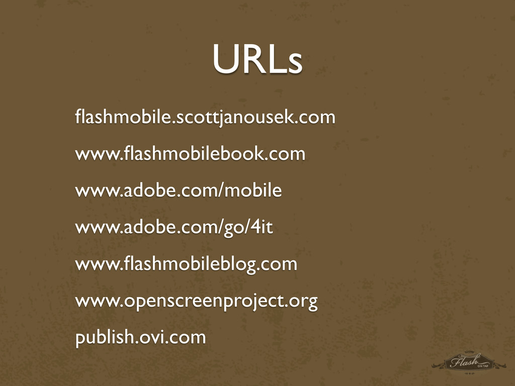 URLs flashmobile.scottjanousek.com www.flashmobil...