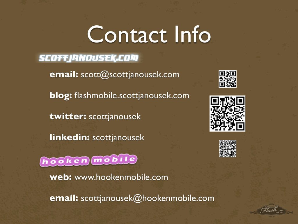 Contact Info email: scott@scottjanousek.com blo...