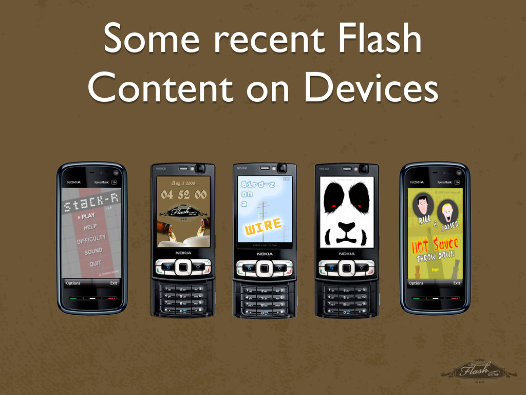 Some recent Flash Content on Devices