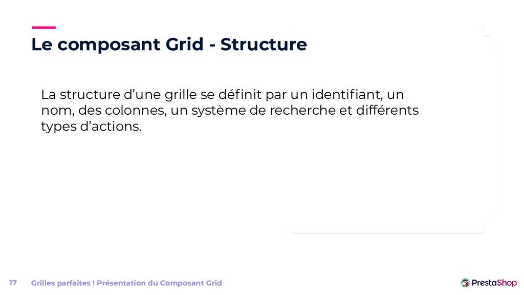Le composant Grid - Structure Grilles parfaites...