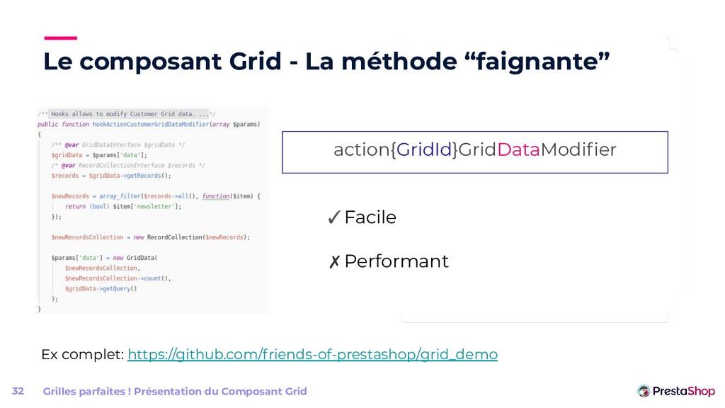 """Le composant Grid - La méthode """"faignante"""" Gril..."""