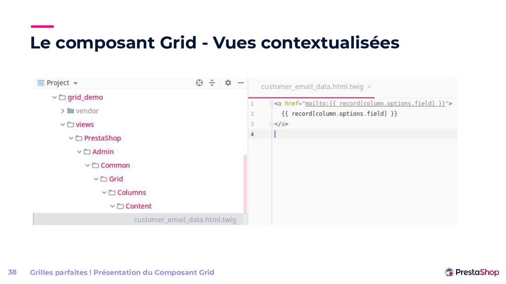Le composant Grid - Vues contextualisées 38 Gri...