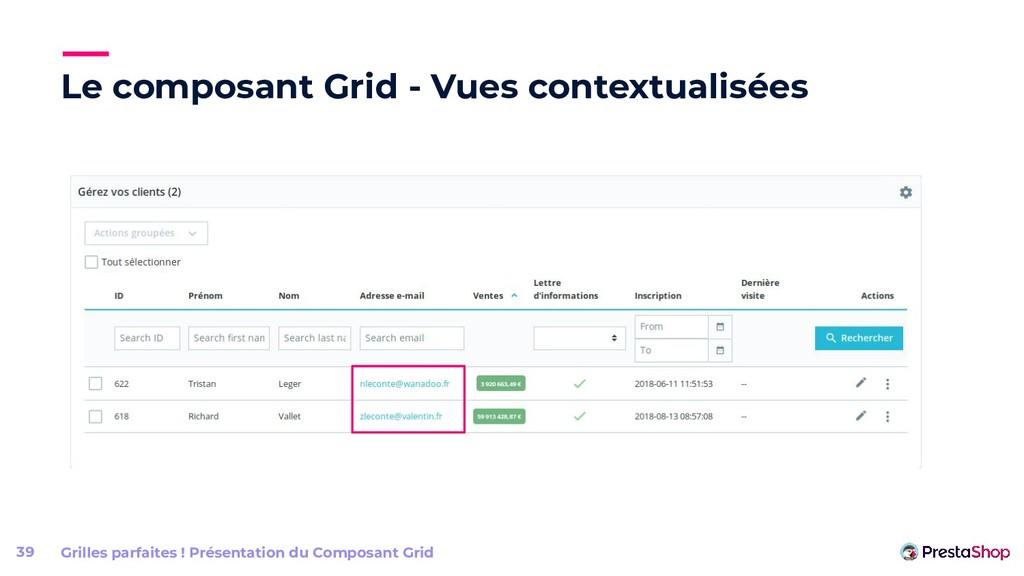 Le composant Grid - Vues contextualisées 39 Gri...