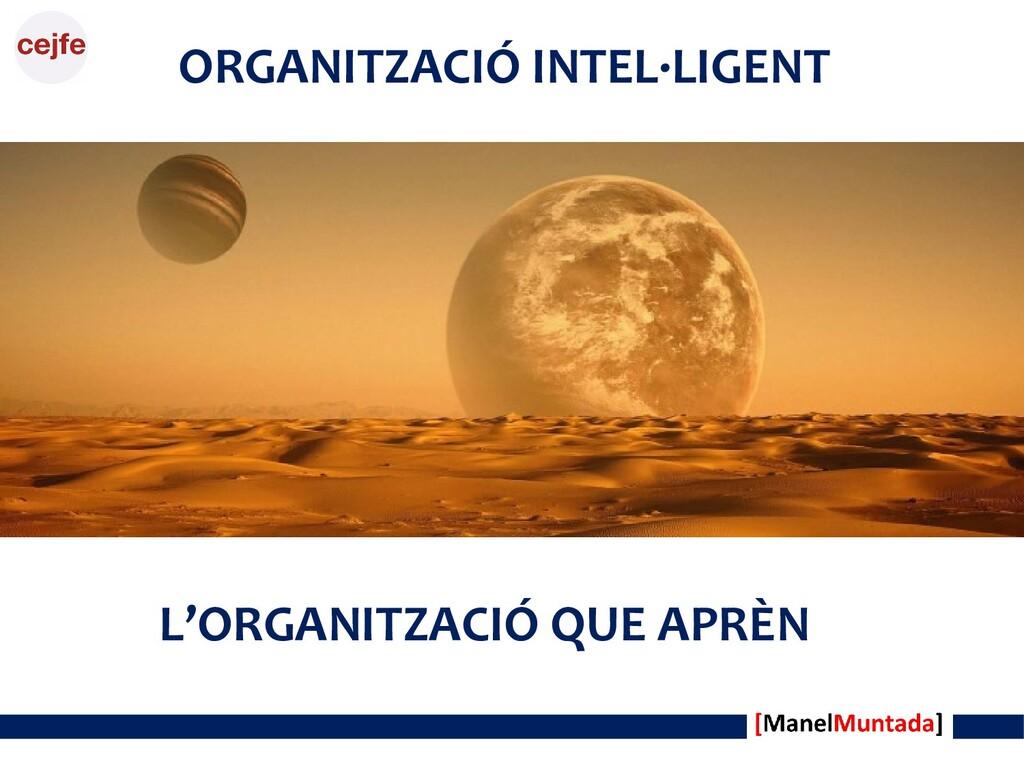 ORGANITZACIÓ INTEL·LIGENT L'ORGANITZACIÓ QUE AP...