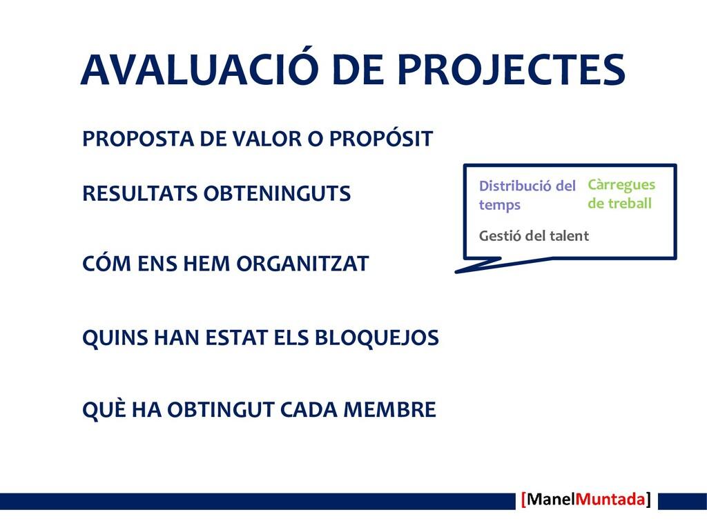 AVALUACIÓ DE PROJECTES PROPOSTA DE VALOR O PROP...
