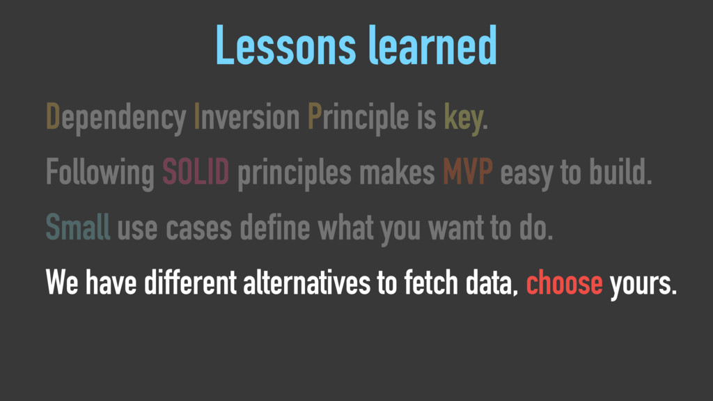 Lessons learned Dependency Inversion Principle ...