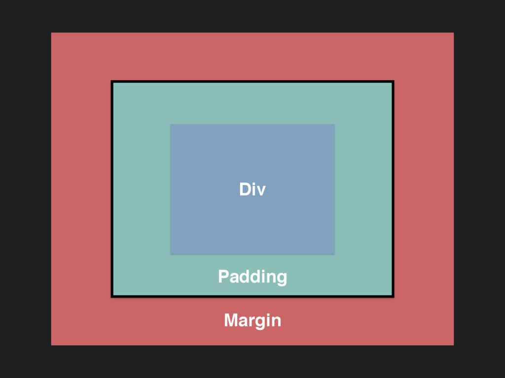 Padding Margin Div