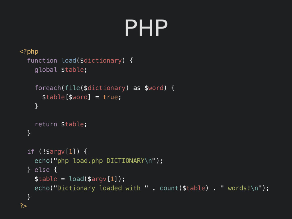 PHP <?php function load($dictionary) { global $...