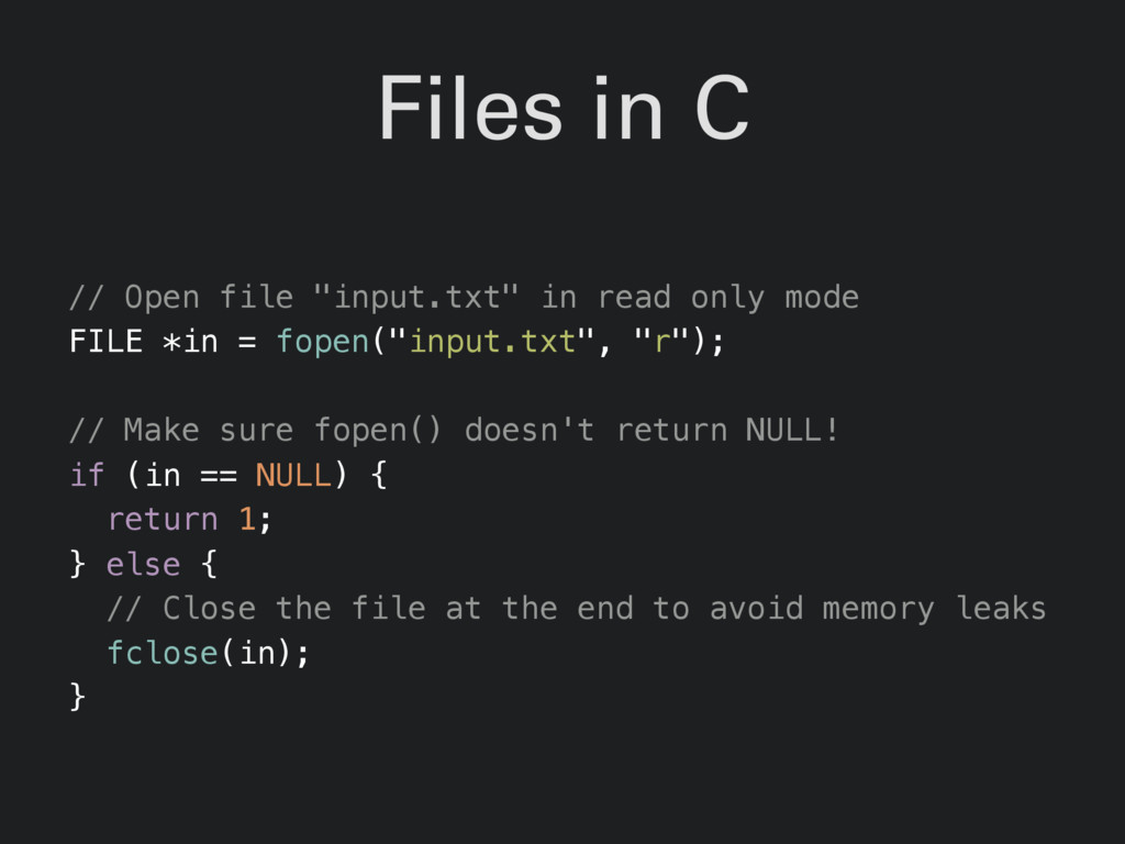 "Files in C // Open file ""input.txt"" in read onl..."