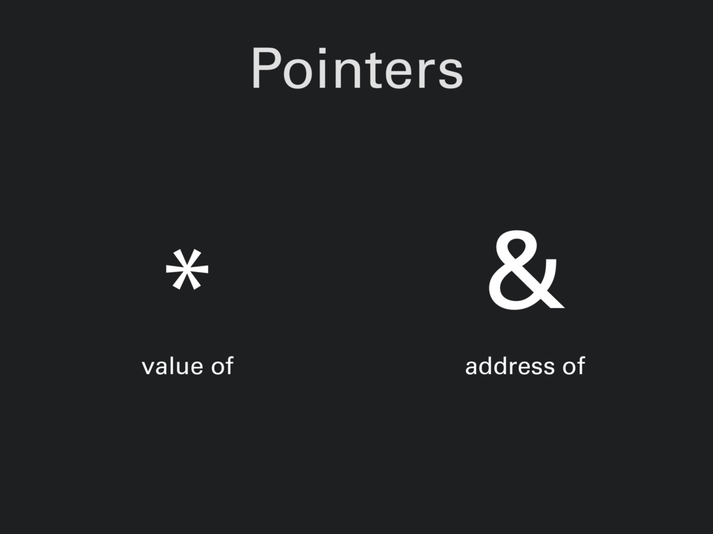 Pointers * value of & address of